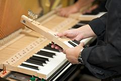 ピアノの劣化部品の交換