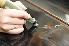 ピアノの傷の修理